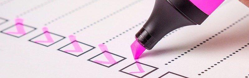 a simple checklist